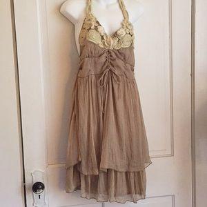 Pretty Angel Silk Polyester Halter Dress